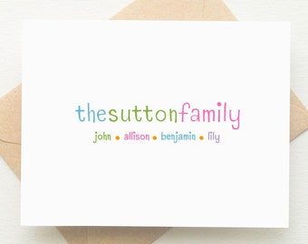 Family Stationery Set | Family Stationary Set | Mothers Day Gift | Personalized Stationery Set | Teacher Gifts | Set of 10