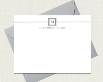 Mens Stationery   Mens Stationary   Monogram Stationary   Personalized Stationery   Mens Monogram   Corporate Gifts   AS-1803