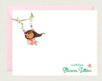 Personalized Stationery Set for Girls | Childrens Stationary | Personalized Stationary | Girls Stationary | Pen Pal Notes  KS-4034