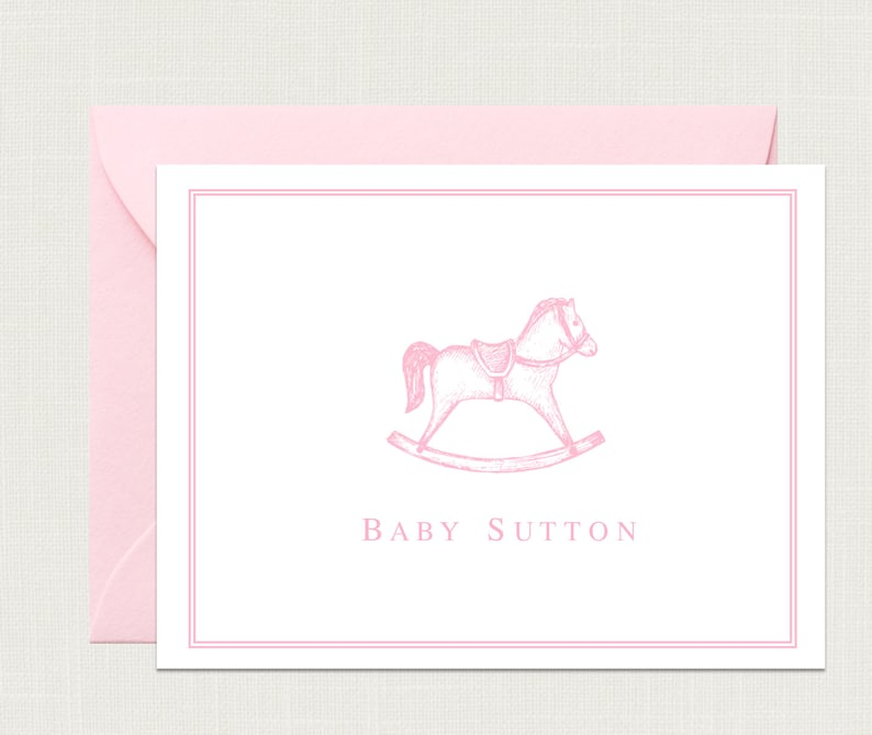 Vintage Baby Shower Thank You Cards Baby Shower Gift Baby Etsy