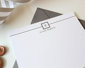 Mens Stationery | Mens Stationary | Monogram Stationary | Personalized Stationery | Mens Monogram