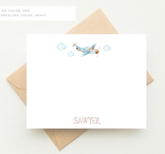 Vintage Baby Shower Thank You Cards: Vintage Airplane Baby Shower Thank You Cards Airplane