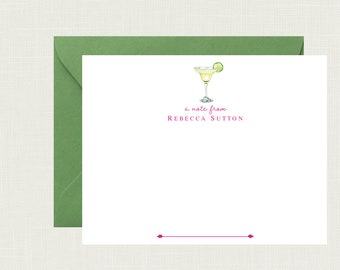 Personalized Margarita Stationery | Personalized Stationary | Margarita Note Cards | Margarita Notecards | Margarita Gifts | AS-1813