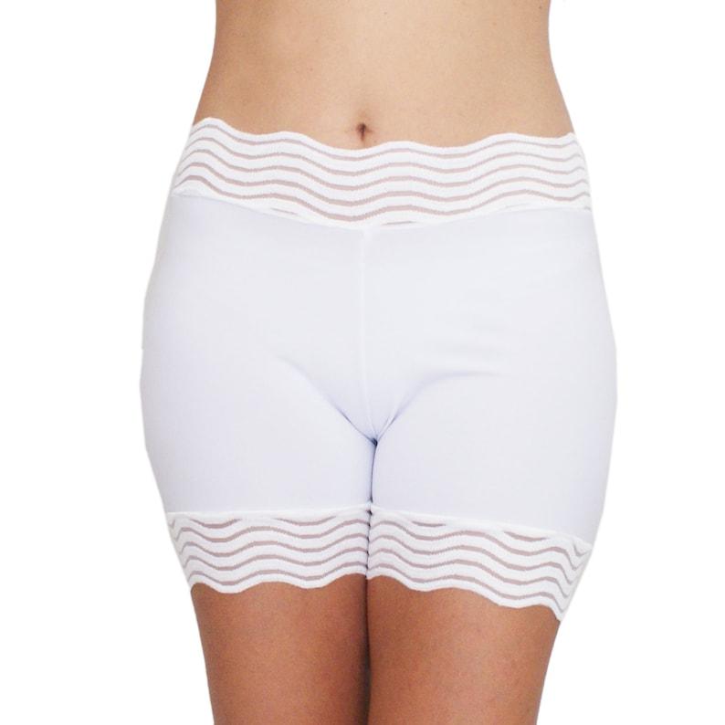 Bridal Shower Gifts White Slip Shorts Under Dress Shorties image 0