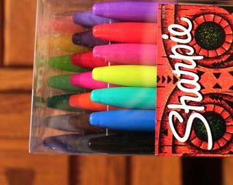 Sharpie 21 Count Permanent Markers Special LIMITED EDITION Sharpies School Big Box Set Fine Classic Pack Tribal Large Huge Marker