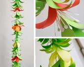 Paper Flower Garland Template for Silhouette, Cricut Explore or Hand Cutting (SVG, DXF, PDF)