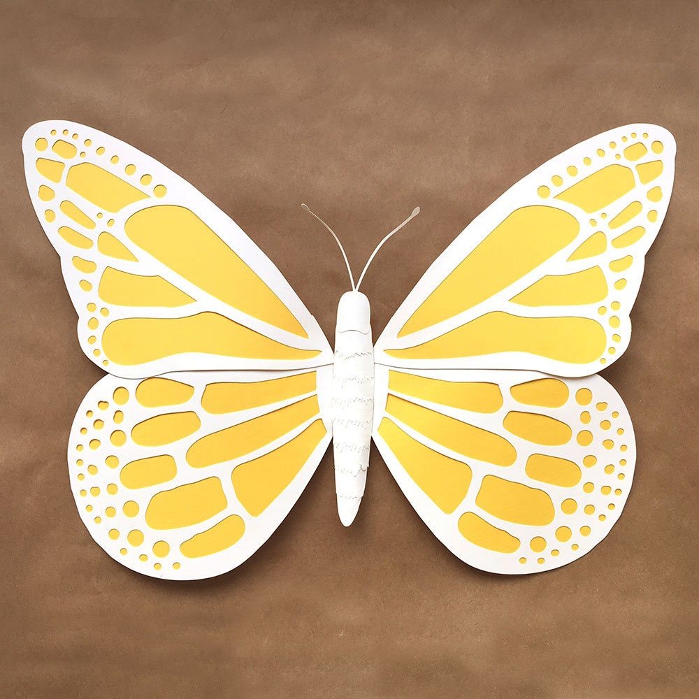 Paper Butterfly Large DIY Template svg dxf and pdf | Etsy