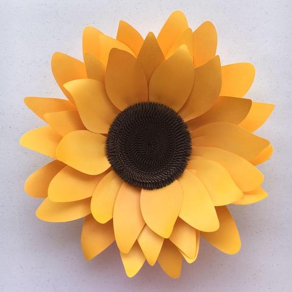 Diy Sunflower Paper Flower Template For Silhouette Or Cricut Etsy