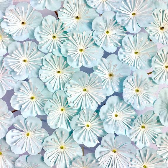 paper flower template six petal flower pick svg dxf etsy