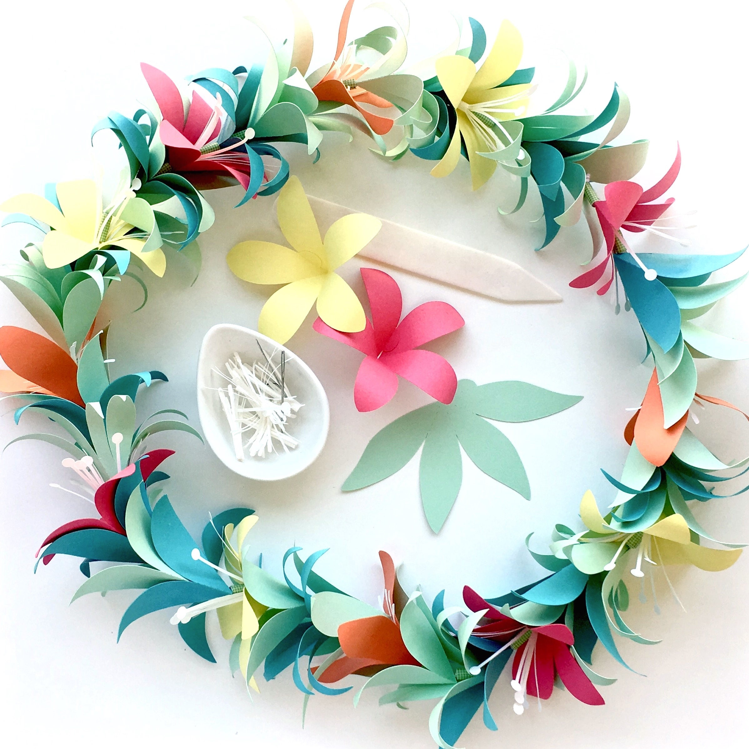 Flower Garland Diy Templates For Silhouette Cricut Explore Or Etsy