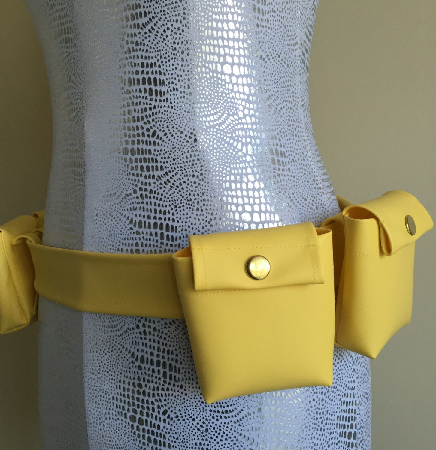 Butter Yellow Marine Vinyl Utility Belt With Removable