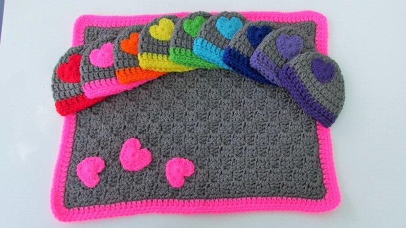 Preemie Blanket Hat Set Micro Preemie Gift Crochet Baby Set Etsy