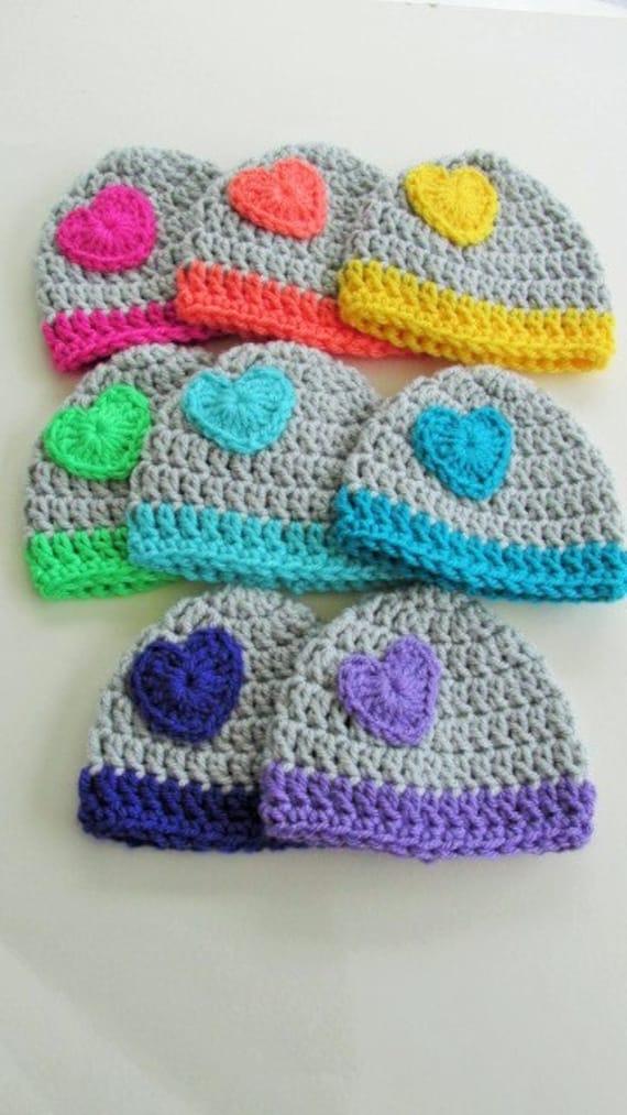 Preemie Hat Gift Set 6 Preemie Heart Hats Micro Preemie Hat  10b829eaca3