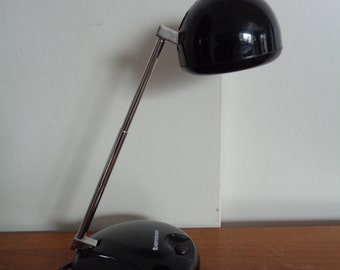 "Vintage Mid Century Desk Lamp by ""TENSOR"" in BLACK"