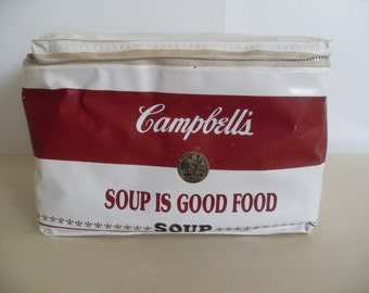 Vintage Campbells Soup Cooler,Lunch Bag