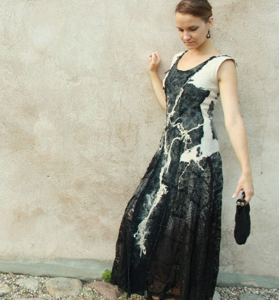 Alternative Hochzeitskleid Maxi Boho Hochzeit Kleid Schwarz Etsy