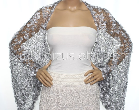 Silver Evening Shawls and Wraps