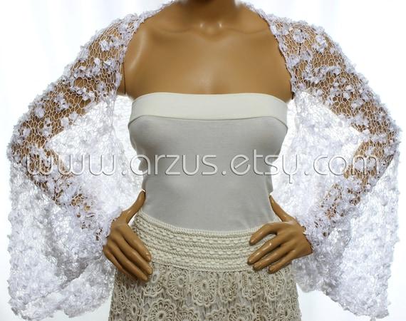 315cc0a7a2 Wedding Shrug Knit White Shrug Cover Ups Shawls Wraps Long | Etsy