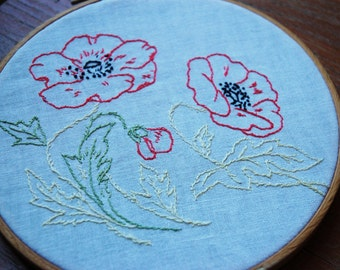 Vintage Floral Embroidery.