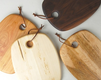 """Wood Cutting Board (12"""" Wide Rectangle) - Handcrafted Wood Serving Board"""