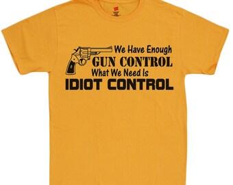95510ec7 Second 2nd Amendment shirts for men idiot control funny saying