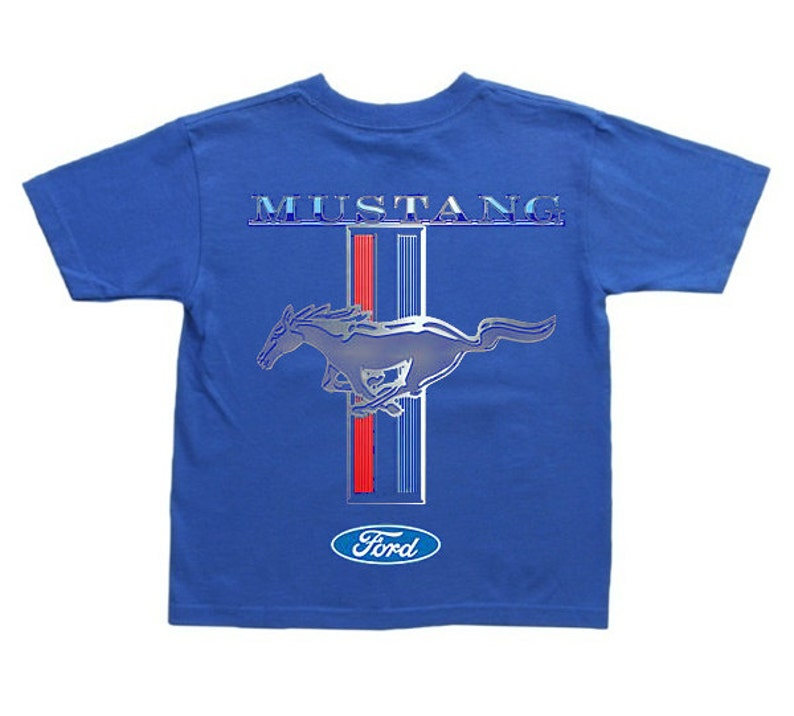 Kids ford mustang shirt for boys tee ford decal youth size image 0