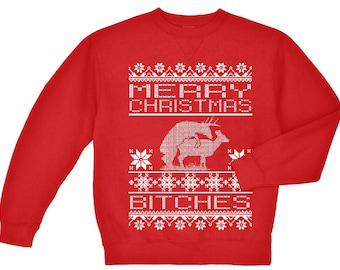 Ugly Christmas sweater for men funny christmas sweater reindeer