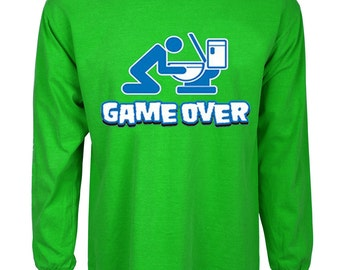 Funny st patricks day t-shirt game over drunk green tee shirt