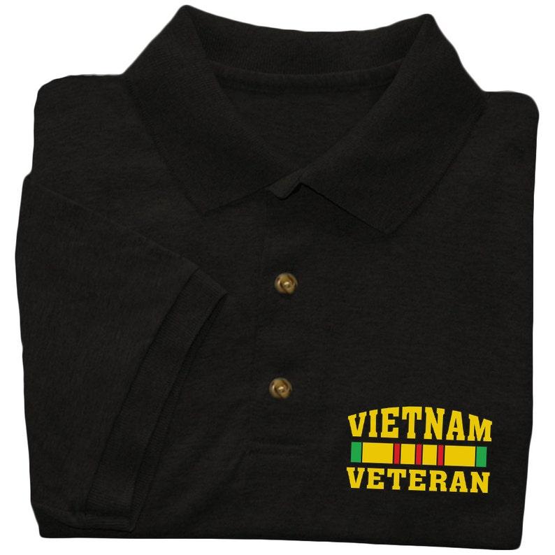 849d56bc3 Wietnamski weteran Polo w stylu koszulki-mężczyźni | Etsy