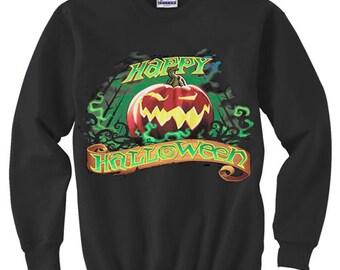 Crewneck Sweatshirt / Happy Halloween