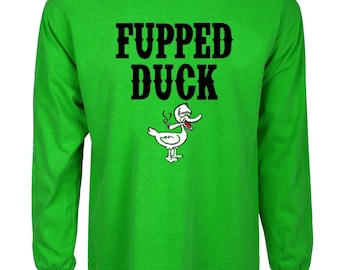 Funny st patricks day shirt Fupped Duck green long sleeve tee