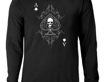 Long sleeve T-shirt / Ace of Spades