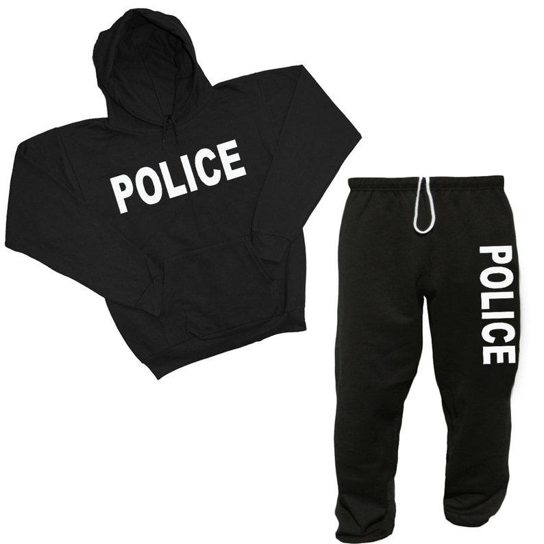 Police Sweatpants Sweatshirt Sweats