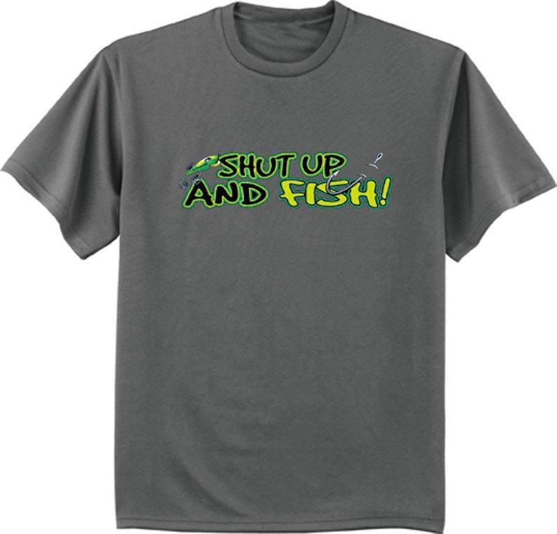 6b178177 Men's T-shirt / Shut up and Fish funny fishing t-shirt | Etsy