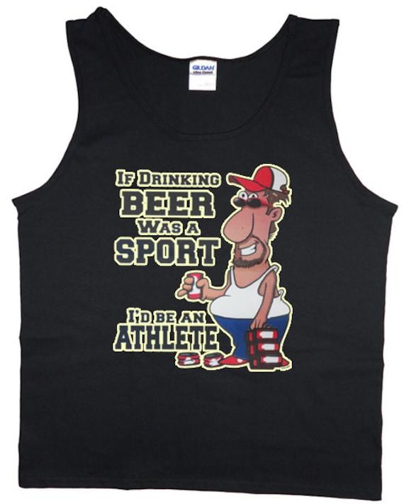 Mens / athlète de bière / Tank top ou T-shirt sans manches