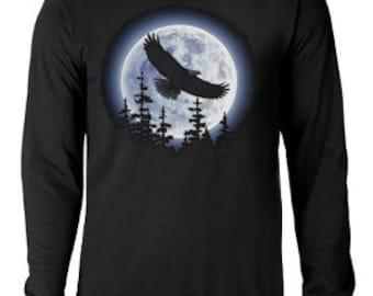 Long Sleeve T-shirt /  Eagle Moon