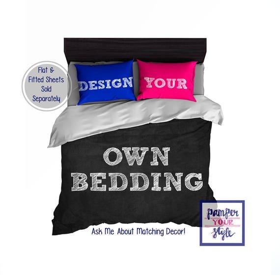 Design My Own Bedding Custom Designed Monogram Bedding Etsy