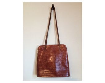 Vintage tan urban tote bag