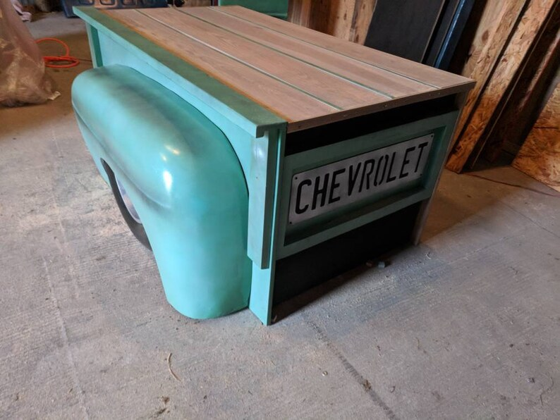 Groovy Handmade Truck Desk Mancave Office Decor Garage Furniture Download Free Architecture Designs Viewormadebymaigaardcom