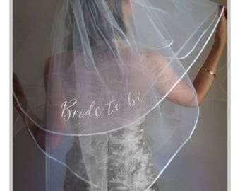 Bachelorette hens party veil with glitter wording