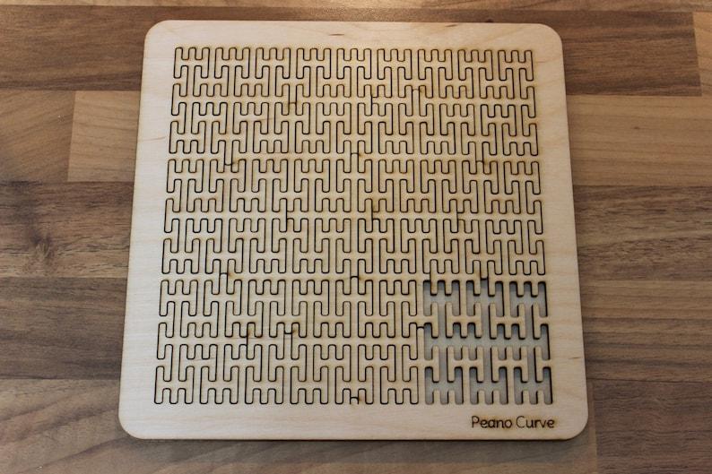 Wooden Fractal Curve Puzzle