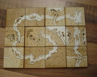 Carcassonne Tile Set PLANS, FILES