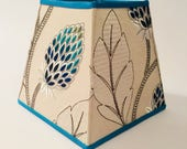 Beige turquoise lampshade...