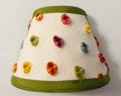 Polka dot nightlight, polka dot decor, nursery decor, multi-colored nightlight, eclectic decor, olive nightlight