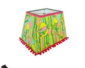 Colorful, Rectangular Lamp Shade: Large Lamp Shades, Rectangular Lamp Shades, Designer Lamp Shades, Unique Lamp Shades, Colorful Lamp Shades