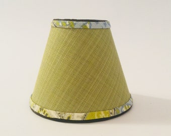 small green lampshade, green and blue lampshade, designer lampshade, boho chic lampshade, chandelier shade
