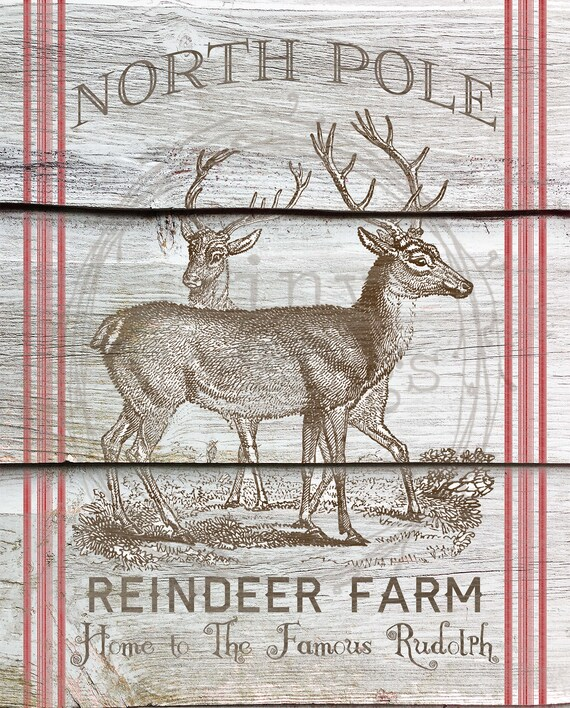 21 North Pole Postmark Stickers Santa Stamp Labels Reindeer Rudolph Christmas