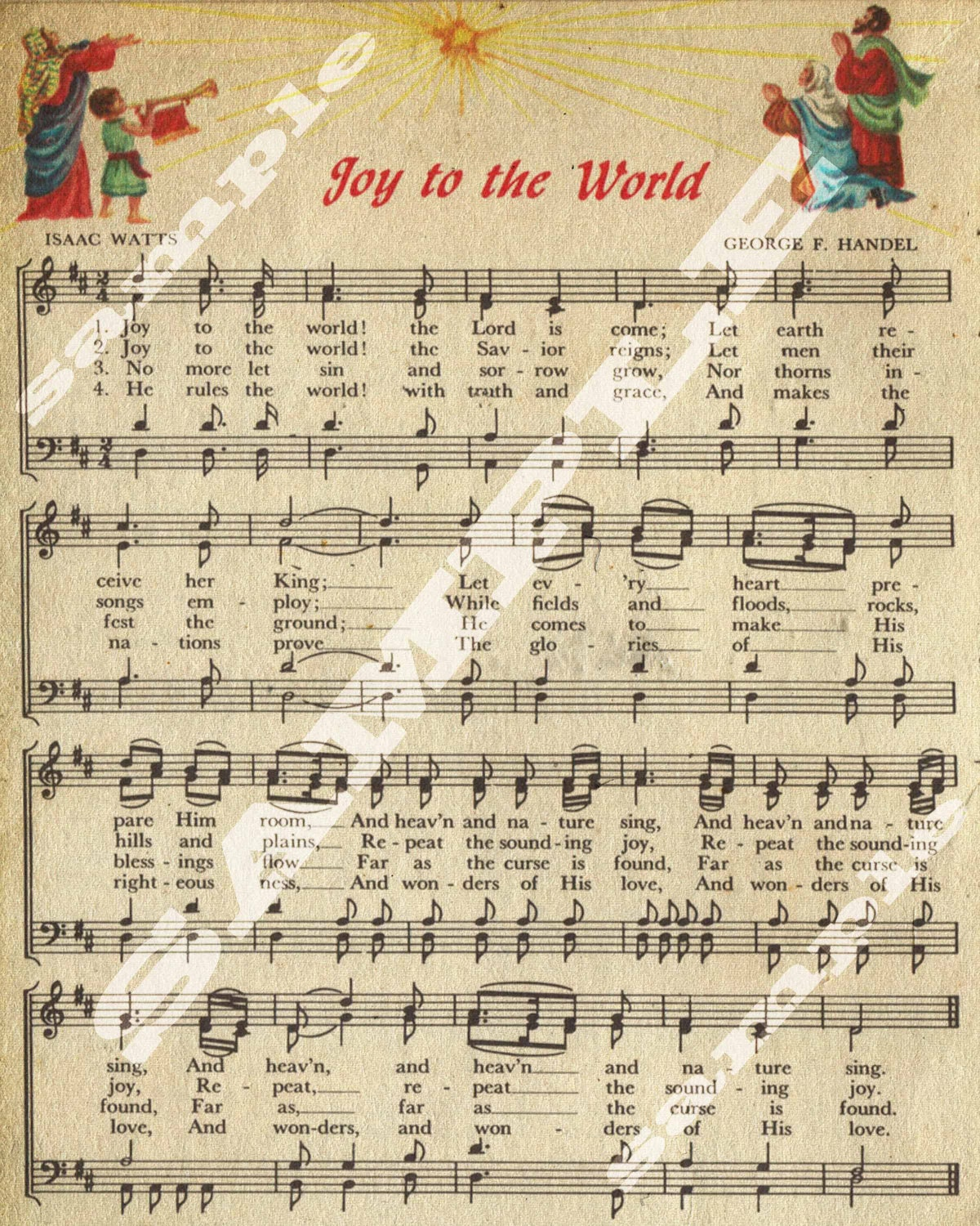 image regarding Free Printable Vintage Christmas Sheet Music known as Happiness In direction of The Worldwide Xmas Vacation Artwork Non secular Basic Sheet New music Printable Down load Tag Signal 8x10