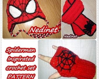 Crochet Spiderman Pattern Crochet Hat Patterns Spiderman Hat  9e4db9d162d