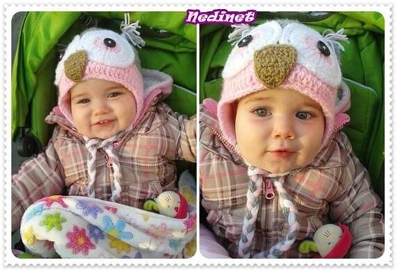 Owl Hat Crochet Pattern Owl Hat Pattern Girl Crochet Hat Etsy